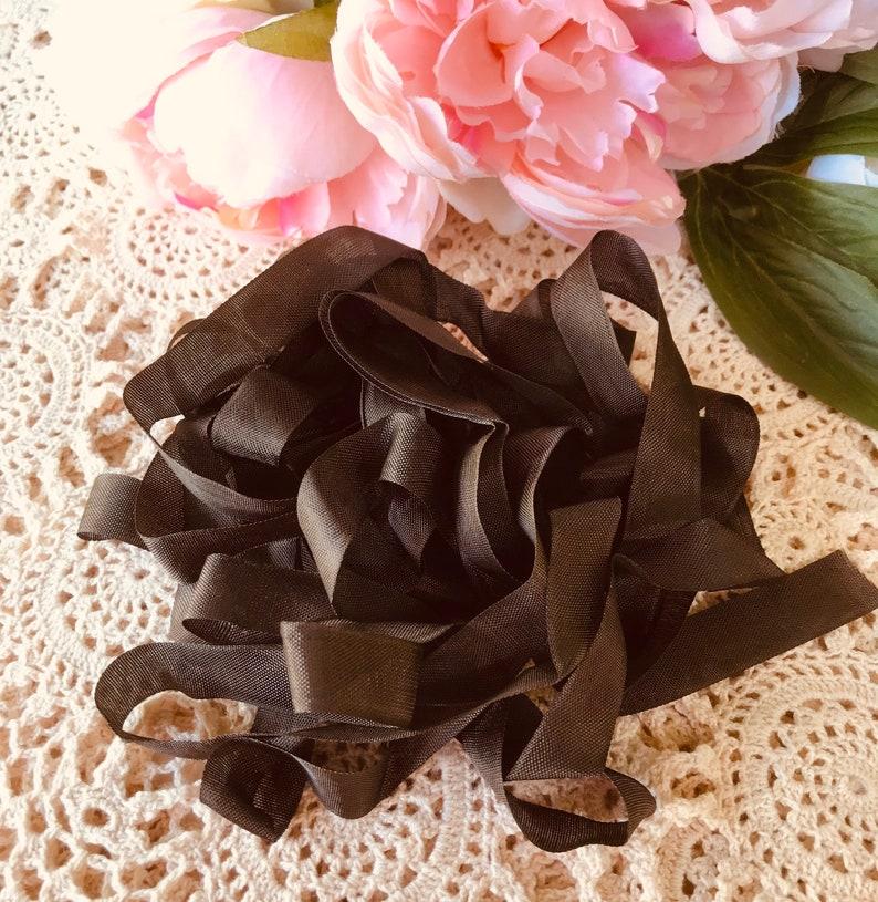 Chocolate Brown Satin seam binding