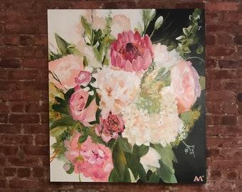 48x60 Custom Bouquet Painting