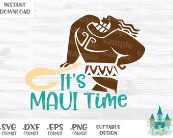 Maui Quote, Moana, Disney Inspired, Cutting Files in Svg, Eps, Dxf and Png Format