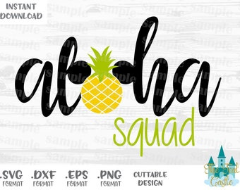 Family Vacation, Aloha Squad Quote, Disney Inspired Cutting Files in Svg, Eps, Dxf and Png Format