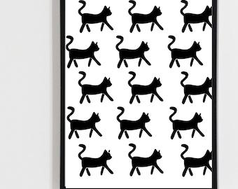 Printable art , Digital print cat, kitty