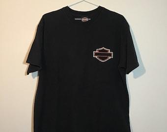 Blackout Harley Davidson Biker Shirt/Motorcycle Shirt/Vintage/