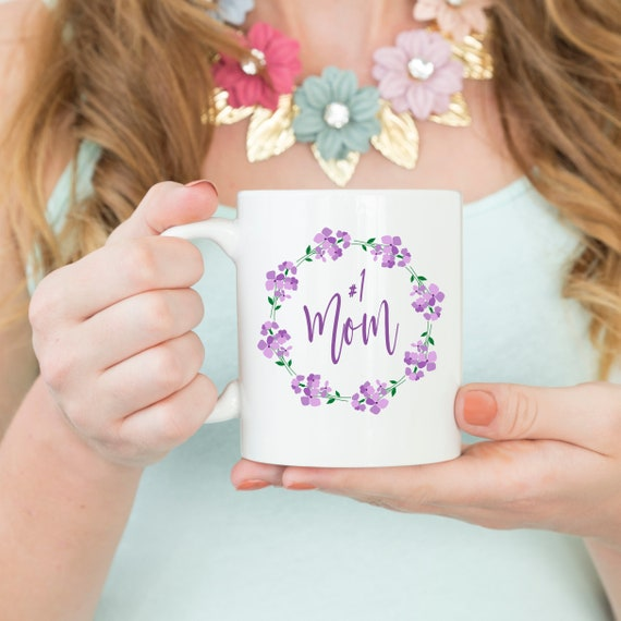 No 1 Mom Coffee Mug Gift Ideas Cup From