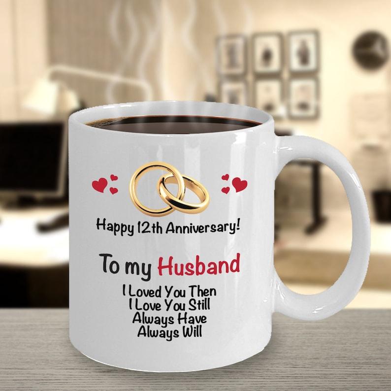 12 Jahrestag Geschenk Ideen Für Mann 12 Hochzeitstag Geschenk 12 Jahre Verheiratet Kaffeebecher