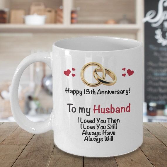 13th Anniversary Gift Ideas For Husband 13th Wedding Etsy