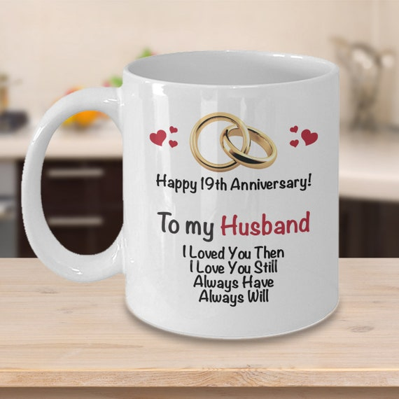 19th Anniversary Gift Ideas For Husband 19th Wedding Etsy