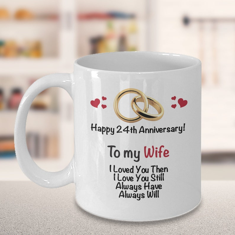 24th Anniversary Gift Ideas For Wife 24th Wedding Etsy