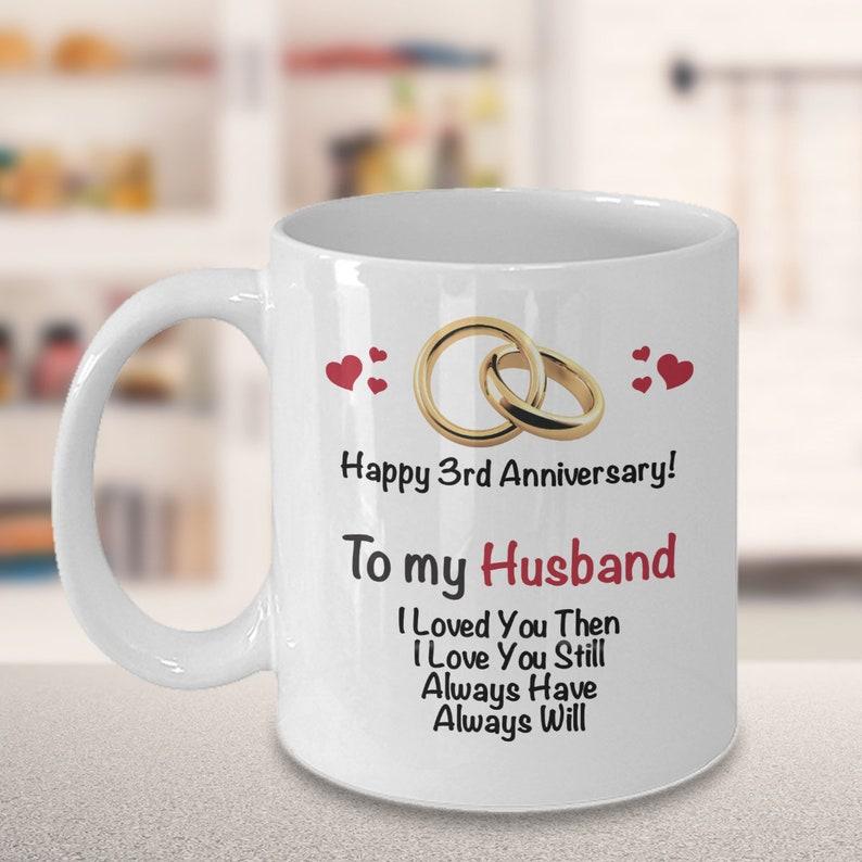 3rd Wedding Anniversary Gift.3rd Anniversary Gift Ideas For Husband 3rd Wedding Anniversary Gift Married 3 Years Coffee Mug