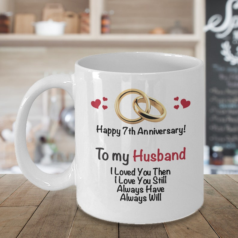 7th Wedding Anniversary.7th Anniversary Gift Ideas For Husband 7th Wedding Anniversary Gift Married 7 Years Coffee Mug