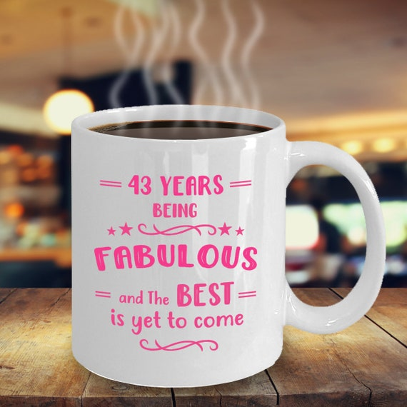 43rd Birthday Gifts For Women Gift Ideas 43