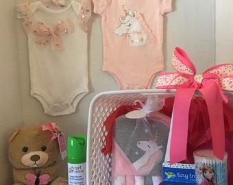 Baby Girl Shower Basket -My Little Unicorn