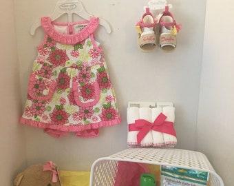 Baby Girl Shower Basket - Hello Sunshine!