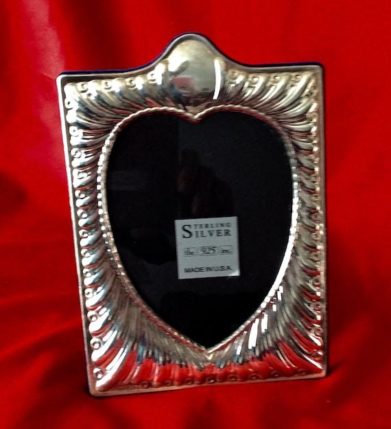 Sterling Silver Frame Fluted Heart Frame 5x7 Heart Frame Etsy