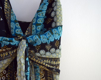 Boho patterned maxi dress