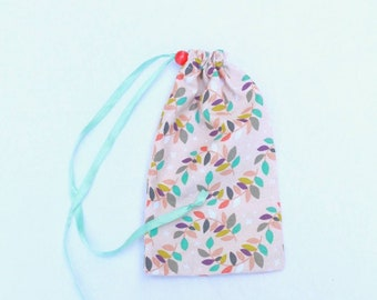 """Colored Leaves Drawstring Pouch(4""""x7"""")"""
