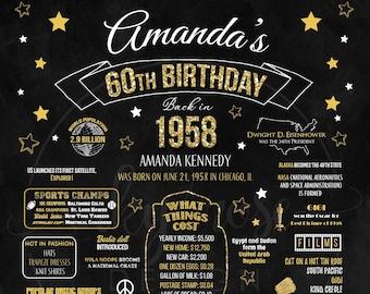 60th birthday ideas etsy