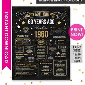 1959 Birthday Decor Ideas 60th Birthday Sign 60th Birthday Gift For Men 60th Birthday Party Decorations 60th Birthday Gift For Him