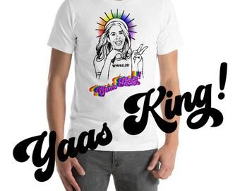 Sassy Gay Jesus Shirt LGBT Gift LGBTQ Gay Pride Gift 'Yaas King!'