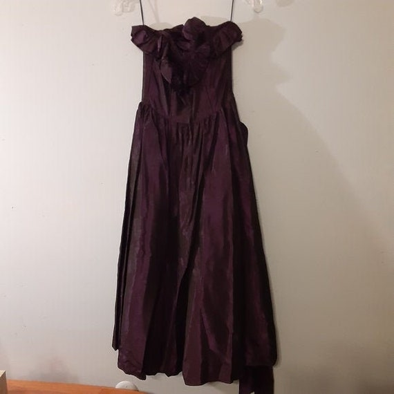 Vintage 80s Gunne Sax Deep Purple Formal Dress Si… - image 1