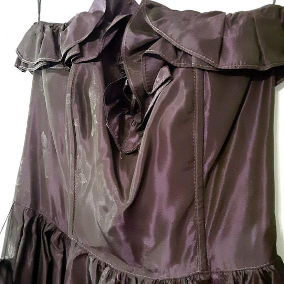 Vintage 80s Gunne Sax Deep Purple Formal Dress Si… - image 3