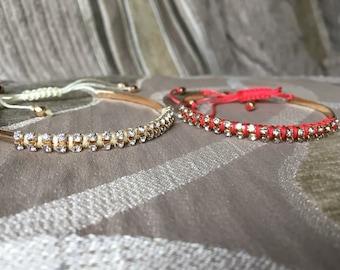 Thread wrap bangle
