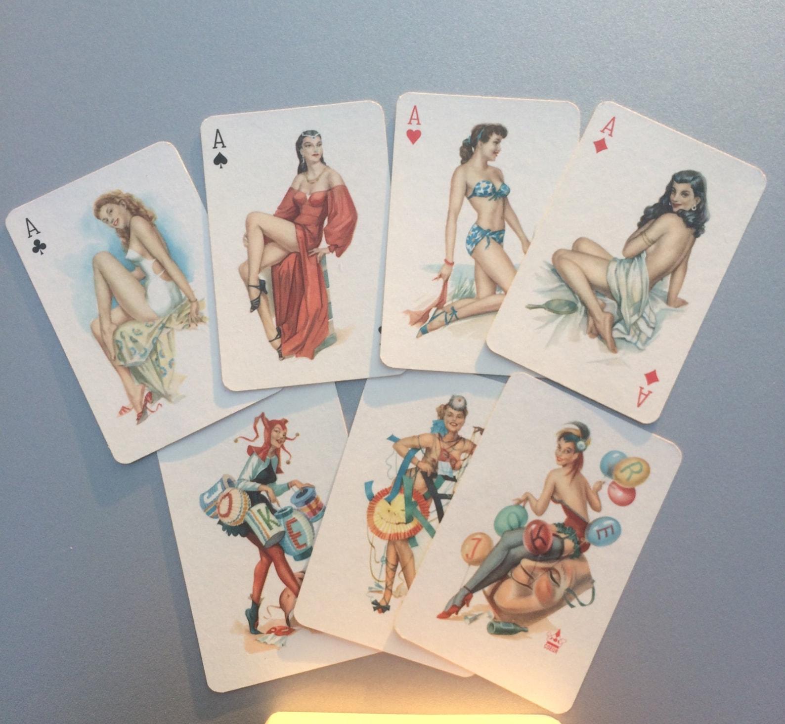 Antique Metamorphic Postcard Erotic Composition