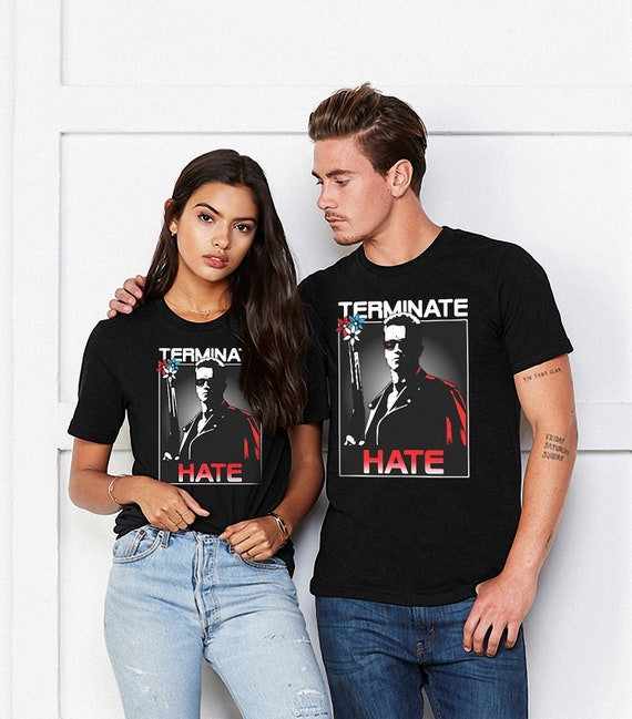 Adults Terminate Hate T-shirt, many colours