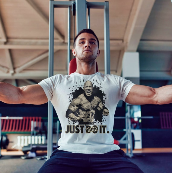 Dwayne Johnson Just Bring It Gym Shirts Just Do It Bodybuilding T Shirt Fitness Shirt For Bodybuilder Men S Workout Tshirts Lifting Tee