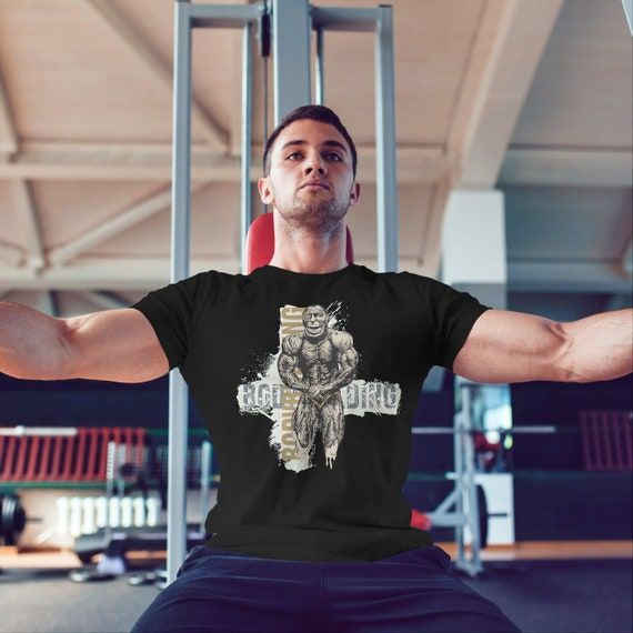 Men Fitness Breathable Screen Printed Apparel Muscle Gym Bodybuilding  T shirts