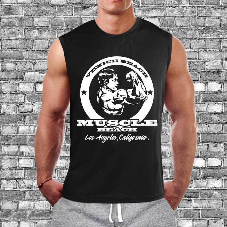 8f20c039 Venice Beach Shirt Gym Shirts Men Gym Muscle Tank Arnold | Etsy