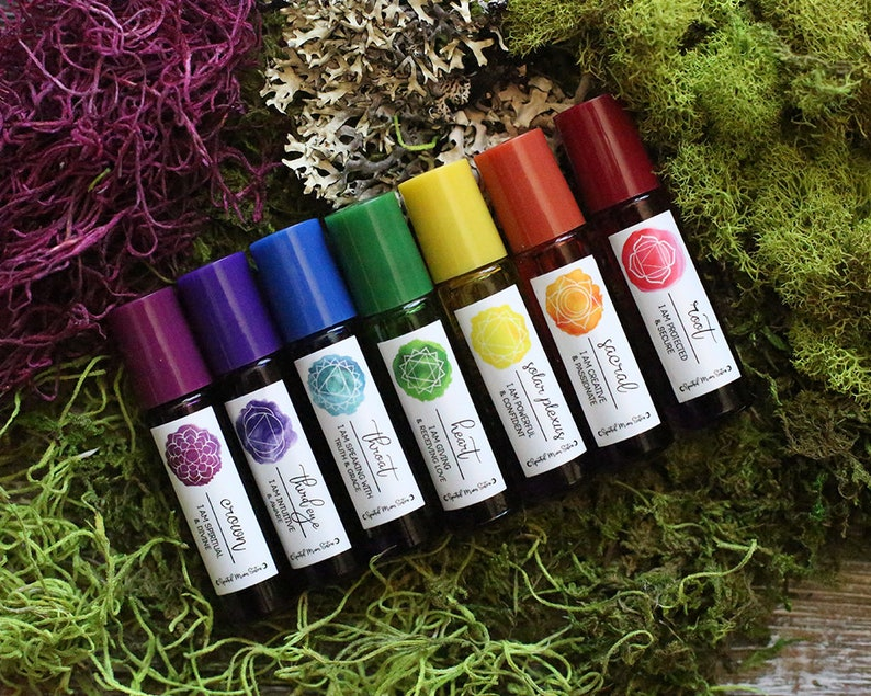 Chakra Set of 7 Healing Spiritual Essential Oils
