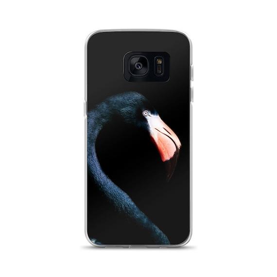 Noir flamant rose coque Samsung, Samsung Galaxy S7, bord S7 Samsung Galaxy, Samsung Galaxy S8, Samsung Galaxy S8 +, S9 Samsung Galaxy, Samsung Ga