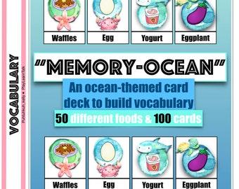Memory Ocean - Food Vocabulary