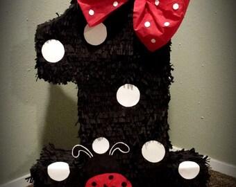 Lady Bug Number Piñata