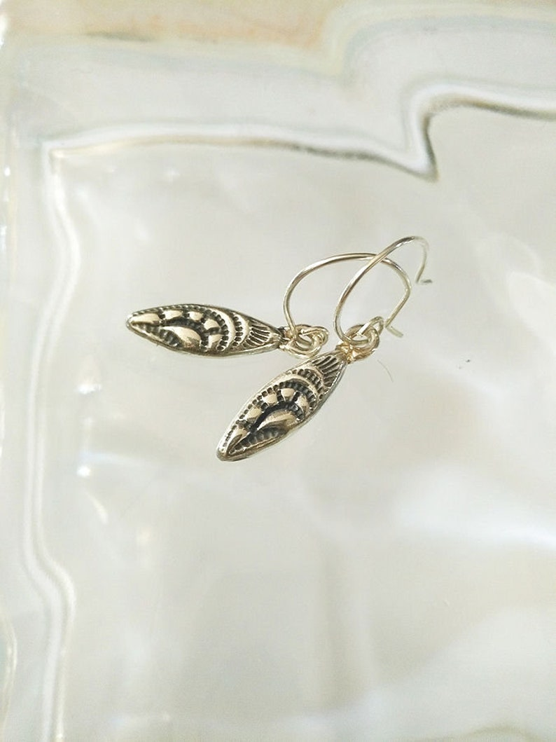 Sterling SIlver Tribal Elements Carved Pod Earrings 1