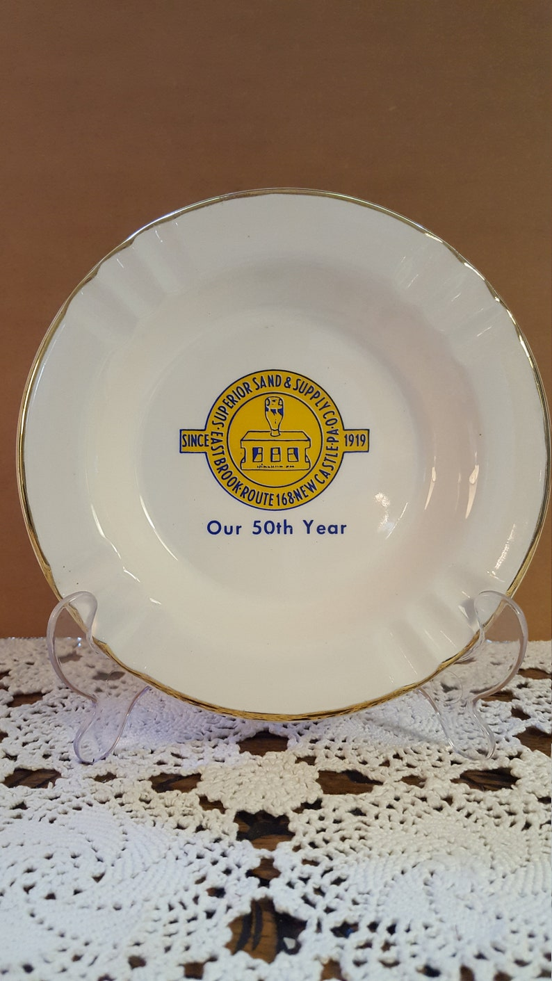 Superior Sand /& Supply Co. New Castle Collectible Advertising Ashtray PA