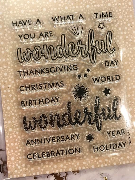 Hero Arts Stamp /& Cut Wonderful Clear Stamp Die Set Christmas Holiday Birthday