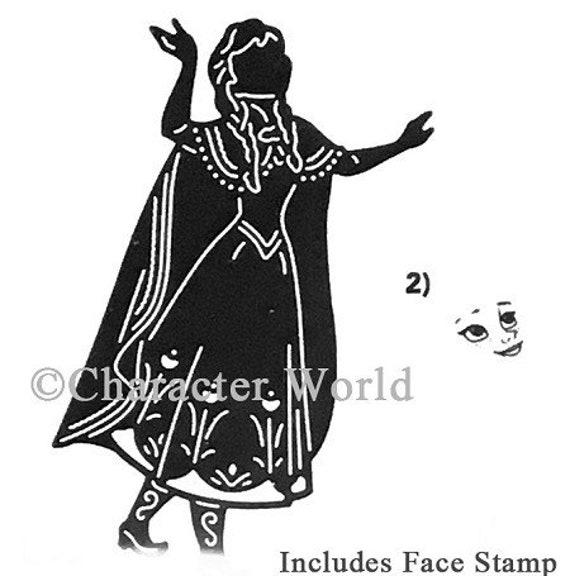 FROZEN ELSA DIE WITH FACE STAMP DISNEY CARD MAKING SCRAPBOOKING