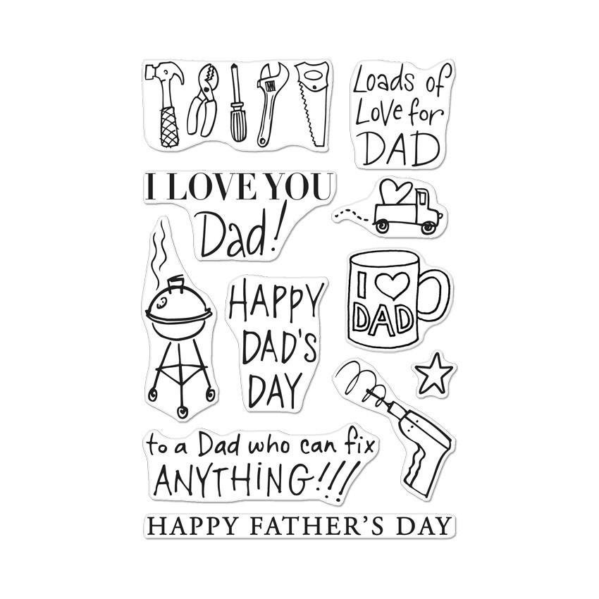 Hero Arts Clear Stamps Cl335 Happy Dads Day Planner Etsy