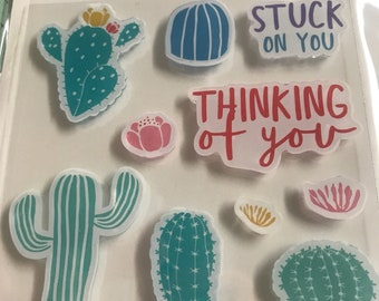 Craft Smart Stamps and Die Set - Cactus - 3 1/2''x3 1/2'' Clear Stamps / Coloring Stamps / Michaels Stamps