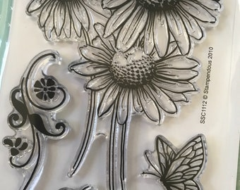 Stampendous Clear Stamps Set - Daisy Thanks - Clear stamps/Coloring Stamps/Happy Mails/cardmaker