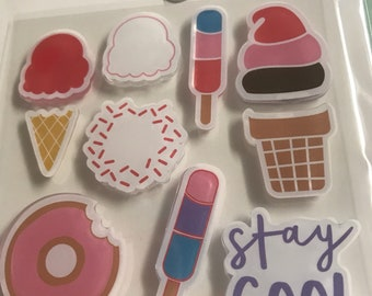 Craft Smart Stamps and Die Set - Ice Cream - 3 1/2''x3 1/2'' Clear Stamps / Coloring Stamps / Michaels Stamps