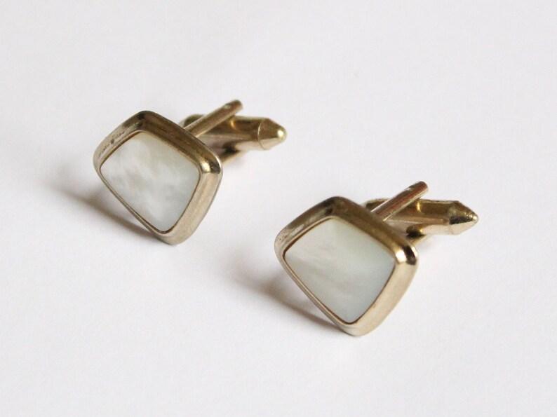 Sophos Mother of Pearl Cufflinks - Vintage Cufflinks