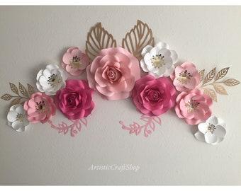 paper flower wall decor Paper flower wall | Etsy paper flower wall decor