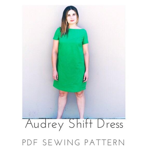 Audrey Shift Dress PDF Sewing Pattern | Etsy