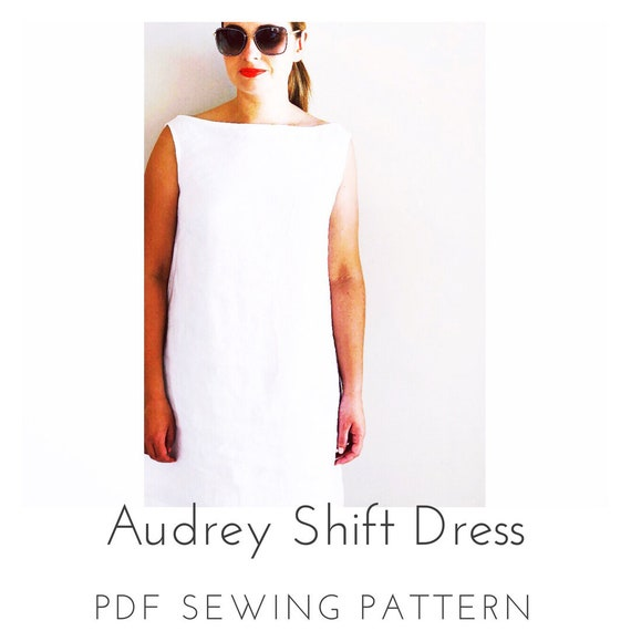 Audrey Shift Dress PDF Sewing Pattern | Etsy