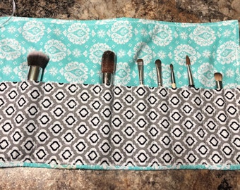 Roll up brush holder - made to order