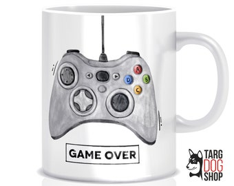Game Over Mug | New Daddy Gift | Gamer's Mug | Gamepad Mug | New Dad Gift | New Dad Mug | Mug for Gamer | Dad Gift | Gift for Friend |CM-027