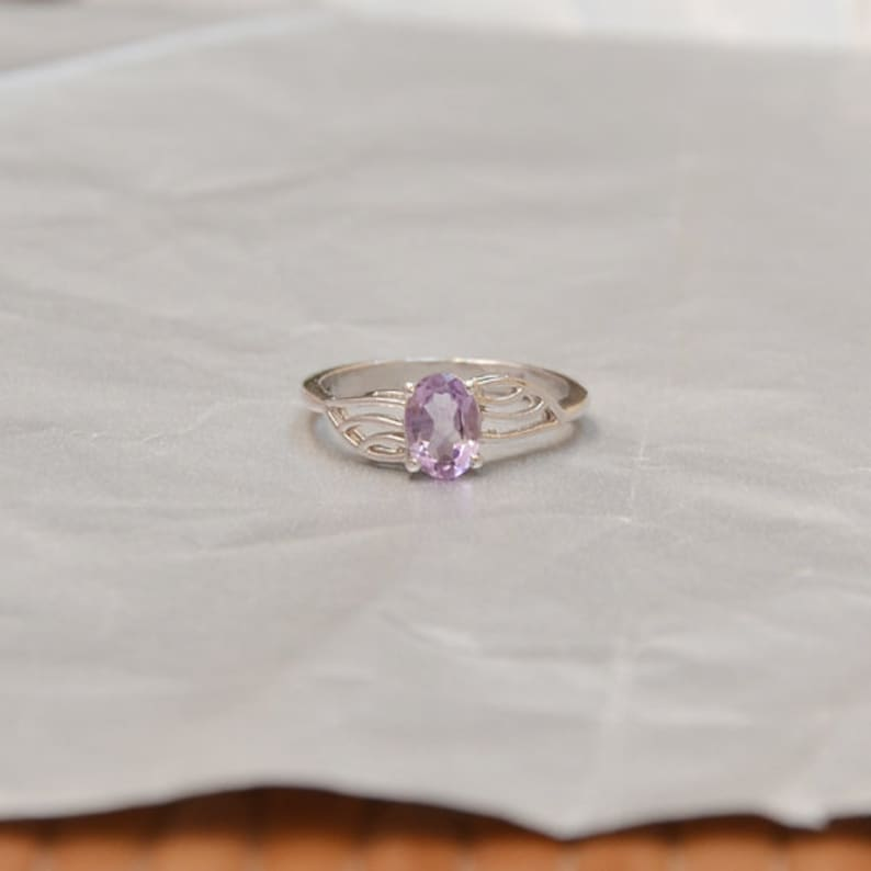 925 Sterling Silver Ring All Size Available, Amethyst Ring Designer Amazing Natural PURPLE AMETHYST Gemstone Ring Birthstone Ring
