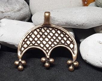 Lunula pendant necklace slavic Lunitsa bronze replica from Great Moravia Viking Reenactment, SCA, LARP